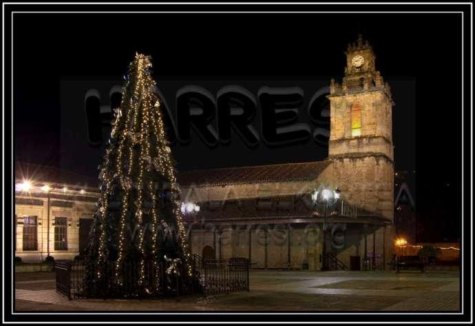 Plaza de San Juan de Balmaseda en Navidad