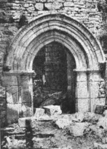 La ermita destruída durante la Guerra Civil