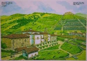 Iglesia y convento de Santa Clara.  Lámina de Fernando Hierro