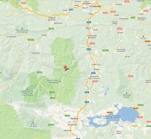 Silió en el centro del mapa