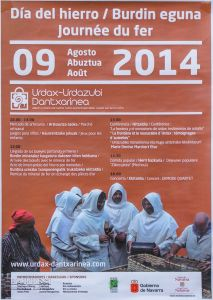 Dia del hierro 2014. Urdax_ Cartel