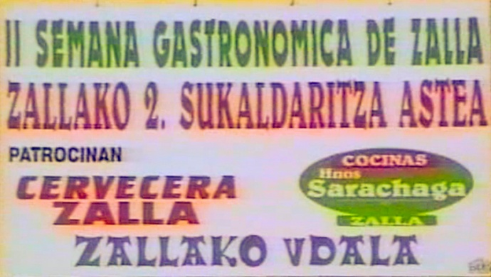 Cartel II Semana Gastronómica de Zalla 1997