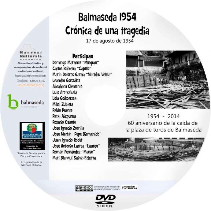 GALLETA DVD. Balmaseda 1954. Crónica toros