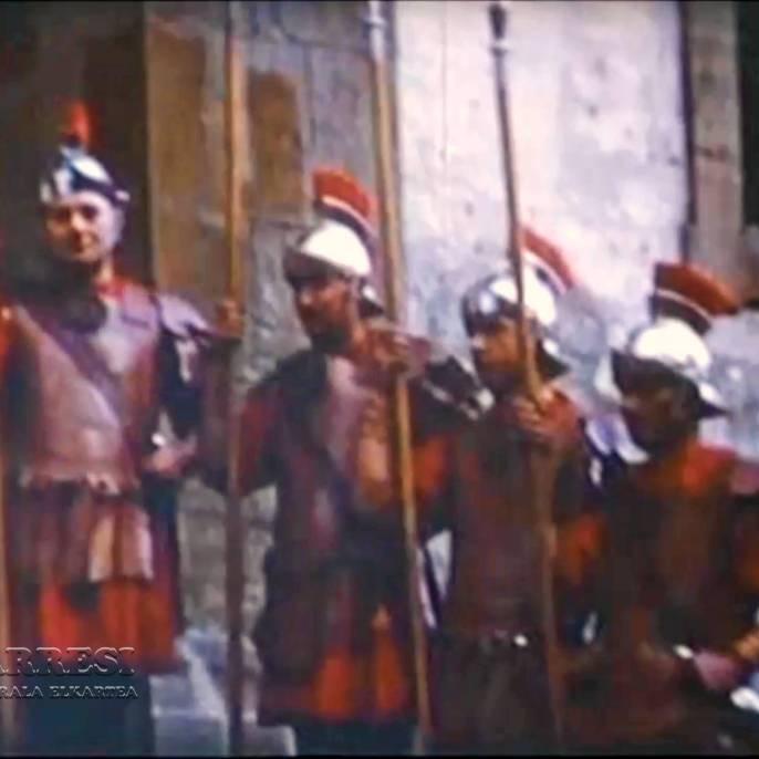 """Grupo de """"fariseos"""" en el Pretorio"""