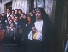Maruja Celorio en su papel de Vírgen María
