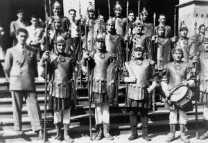 """Fotografía de los """"fariseos"""" de Balmaseda en los años 40"""