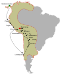 Periplo de Catalina en el continente americano