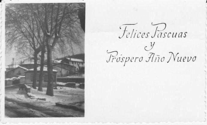 Tarjeta postal de los años 50