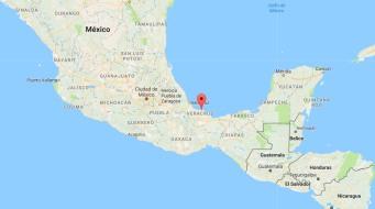 Naufragio del vapor Valmaseda. Mapa Veracruz 01