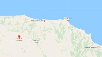 Naufragio del vapor Valmaseda. Mapa Veracruz 02